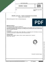 84 2 3 en 10204 Types of Inspection Documents
