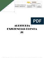 Auditoria de La Cuenta 20