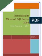 Instalar Microsoft SQL Server 2008