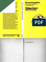 Dubois Philippe - El acto fotográfico