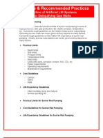 Guidelines & Recommended Practices For Selection of Artificial Lift Systems