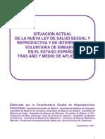 Informe Aplicacion Ley Aborto- 28 Sept- 2011- Coordinadora Estatal