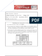 2009 MF eFolioA Resolução