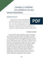 De La Fisica Cuantica a La Metafisica Kantiana