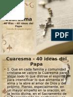 Cuaresma - 40 Ideas del Papa Benedicto XVI