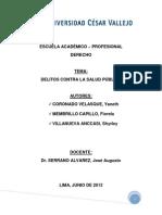 Delitos Contra La Salud Publica- Indice