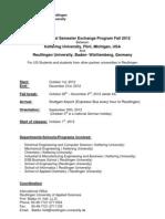 Semester Exchange Program2012