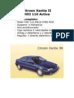 Despiece Xantia II Hdi 110 Activa