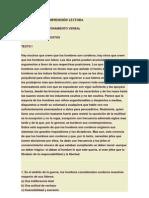ÈJERCICIOS DE COMPRENSIÓN LECTORA