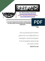 A Luta Dos Anarquistas Contra o Sistema Penal e a Emergencia Da Acao Global de Associacoes Que Compoem a Cruz Negra Anarquista