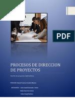 Los Procesos en La Dirección de Proyectos