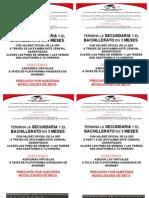 Volantes Ceneval Secundaria y Bachillerato