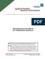 Maintenanc and Repair of Pressure Vessels