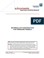 Materials of Construction for Pressure Vessels
