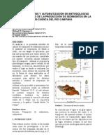 Calculo de Produccion de Sedimentos en La Subcuenca Rio Campan