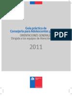 Guía práctica de consejeria para adolescentes y jovenes PERU