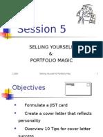 Session 5 Selling Yourself & Portfolio Magic 2