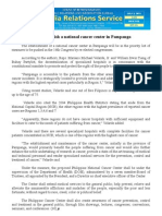 july02.2013Bill to establish a national cancer center in Pampanga