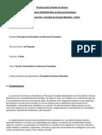 Proyecto para Creación de Carrera Tecnicatura UNIVERSITARIA en RecursosForestales