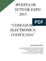 Cerradura electrónica codificad1