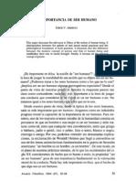 3. La Importancia de Ser Humano, Jorge v. Arregui
