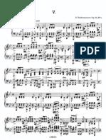 Sheetmusic Rachmaninoff Prelude 23prelude 5