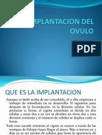 Implantacion Del Ovulo