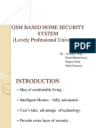 Gsm Based Home Security System