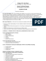 Course Outline for Social Dimensions of Education