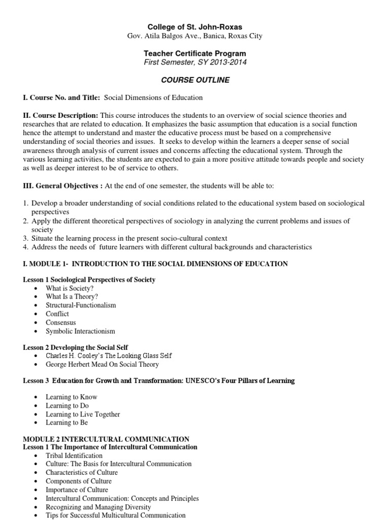 Course outline for social dimensions of education gender course outline for social dimensions of education gender ethnicity race gender buycottarizona