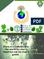 Delhi Public School, Bopal, Ahmedabad Green School Drive Presentation