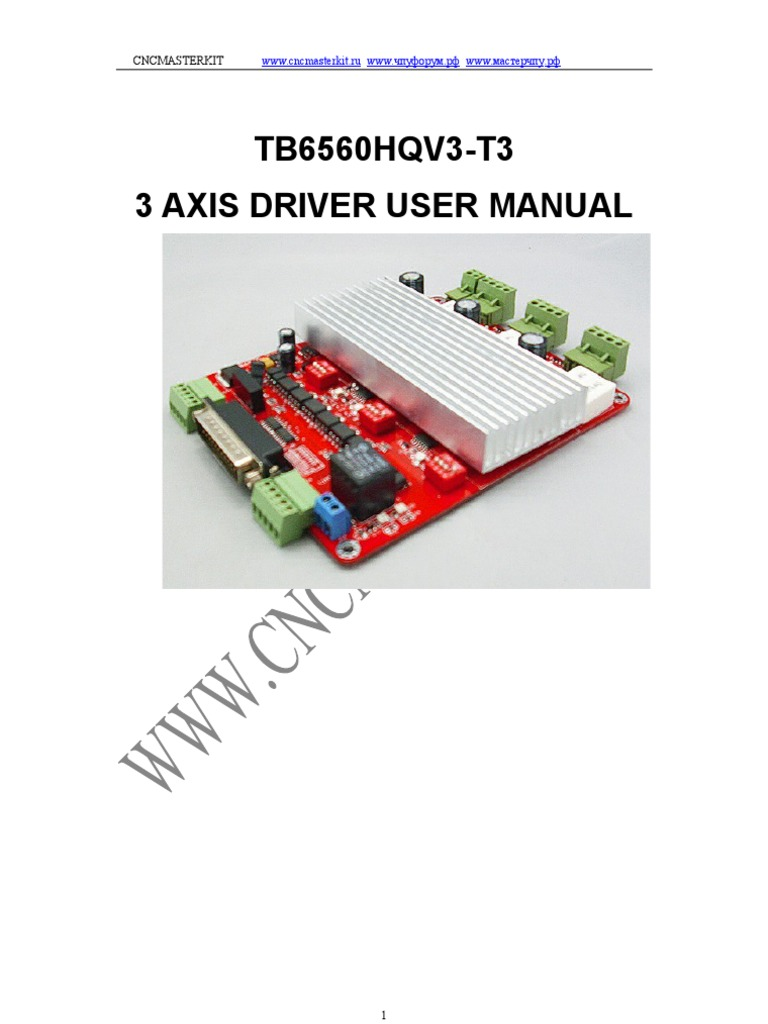 3 Axis Tb6560 Roja Manual Integrated Circuit Switch Stepper Motor Driver 74194