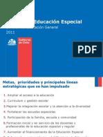 PresentaciOn EducaciOn Especial 2011