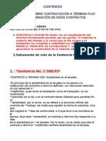 09 Dic 01 Sentencias Estabilidad Laboral