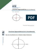 Funciones Trigonomtricas en La Circunferencia