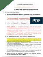 Exercício de Direito DPC II Respondido 2013