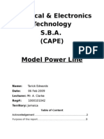 Electrical SBA (Cape) Transmission power line Test