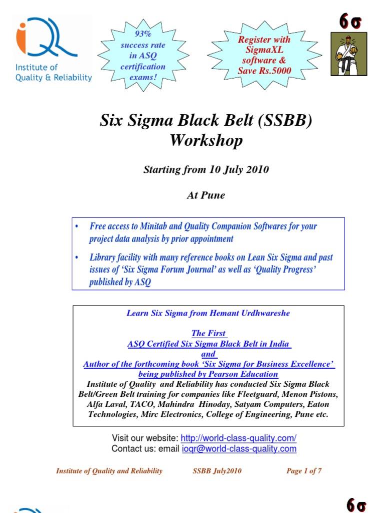 Cssbb Guide Pdf Six Sigma Standard Deviation