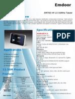 Em79D RFID HF 13.56MHz Tablet