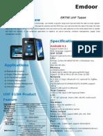 Em79E RFID UHF 915MHz Tablet