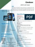 Em79f LF 125kHz Tablet