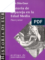 Historia de La Pareja en La Edad Media Leah Otis Cour