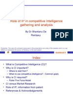 Role of IP in competitive intelligence gathering & analysis