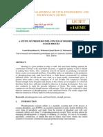 A Study of Pressure Influences of Phosphogypsum- Based Bricks