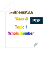 Topic 1- Whole Numbers