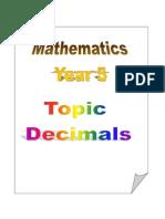 Topic 3 - Decimals