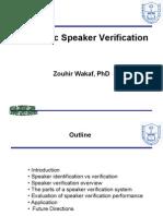 Automatic Speaker Verification
