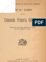 Ley de Instrucción Primaria Obligatoria, 1920