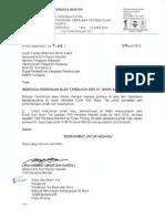 Surat Balasan Setiausaha Sulit Kanan Perdana Menteri