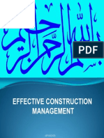 MFA10103 (2012) - SCM - Effective Construction Management (Lect 05